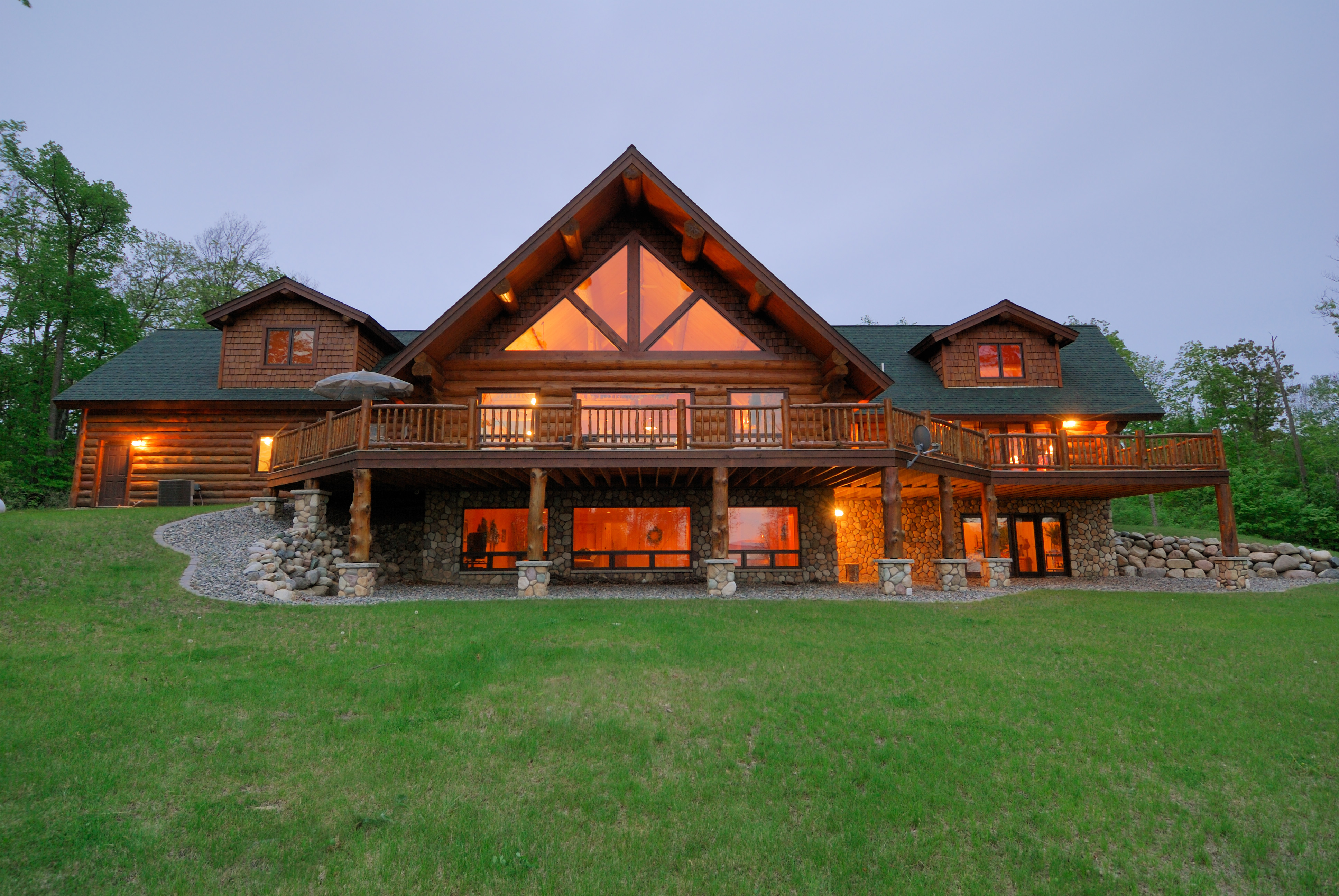 Log Home Paradise On Leech Lake Mn Luxury Real Estate